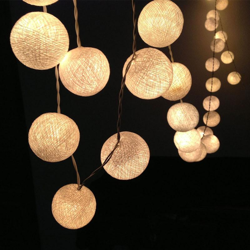 led cotton ball fairy light 3m aa battery powered. Black Bedroom Furniture Sets. Home Design Ideas
