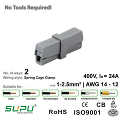Supu 520201 Lighting Connector - 2 Way from LED Warehouse for $1.06
