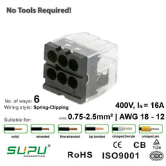 Supu 522406 Push-in Connector - 6 Way from LED Warehouse for $0.53