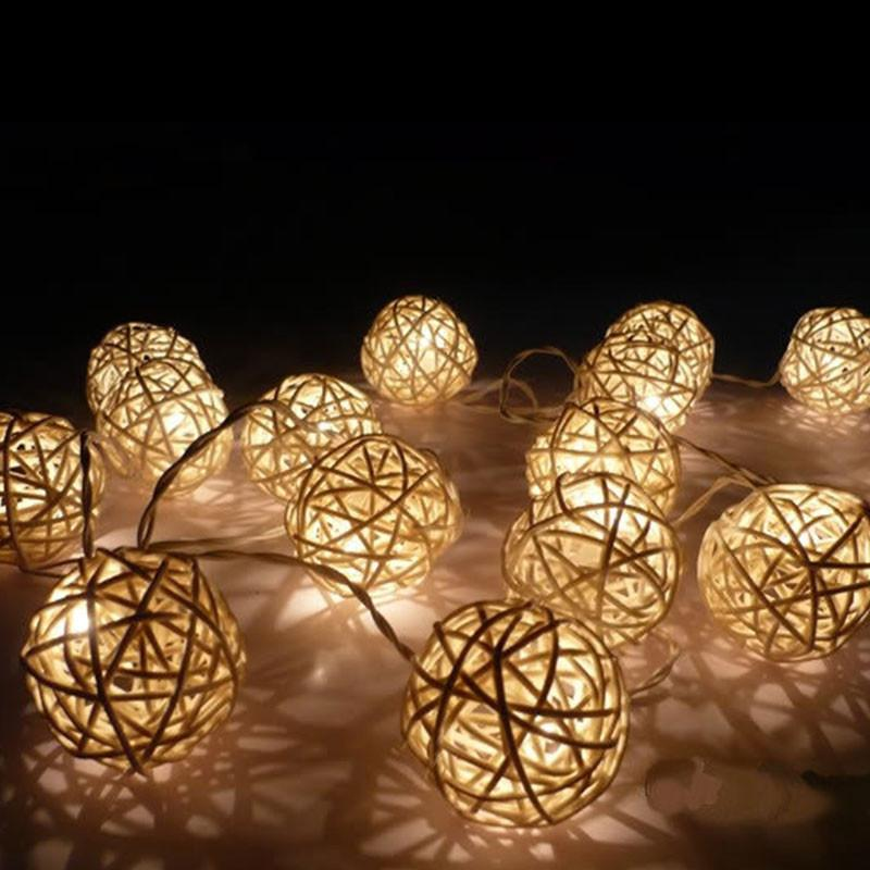 LED Rattan Ball Fairy Light - 3m, AA Battery Powered from Generic Brand for $36.99