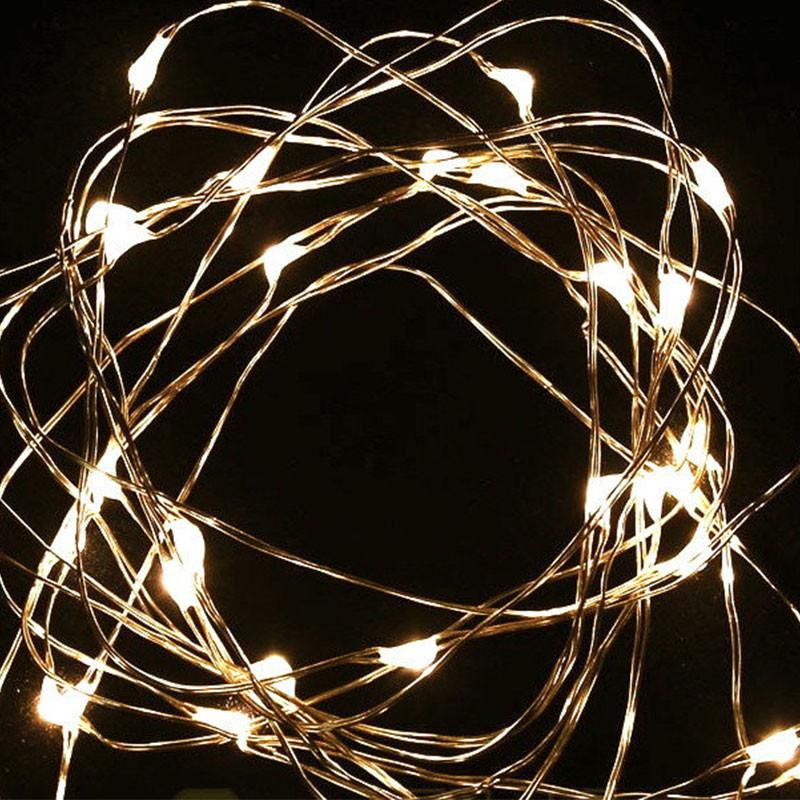 LED Silver Wire Seed Fairy Light - 5m, Battery Powered
