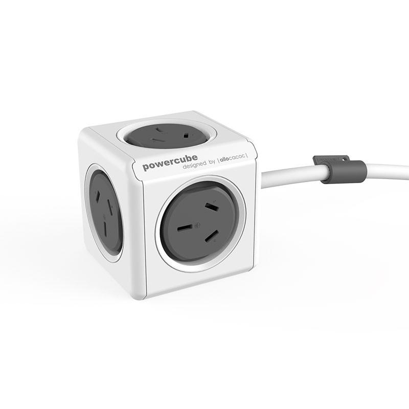 allocacoc PowerCube 5 x Socket -1.5M SAA Cable - Grey