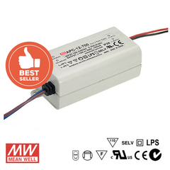 Mean Well LED Power Supply 12W 700mA - DC Driver from Meanwell for $19.99