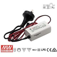 Mean Well LED Power Supply 16W 12V - DC Driver with IEC Plug from Meanwell for $18.99