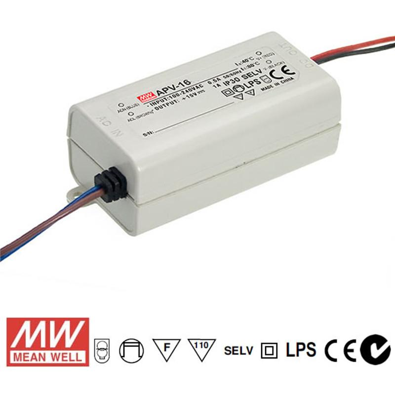 Mean Well LED Power Supply 16W 12V - DC Driver from Meanwell for $27.99