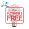 FSL A60 Series LED B22 Bulb, 10W from FSL for $5.99