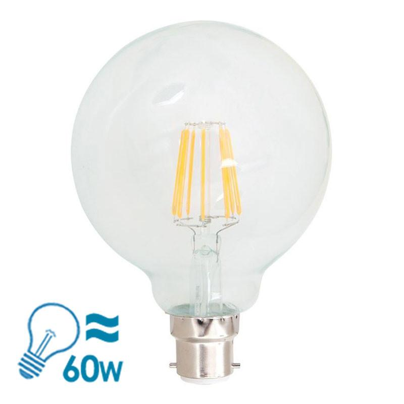 KANDOlite Filament LED G95 Series B22 Bulb, 7W, Dimmable from Eurotech Lighting for $28.99