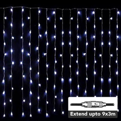LED Curtain Light - 300LEDs/3x 3m - Extendable up to 9x 3m from Light.co.nz for $97.99