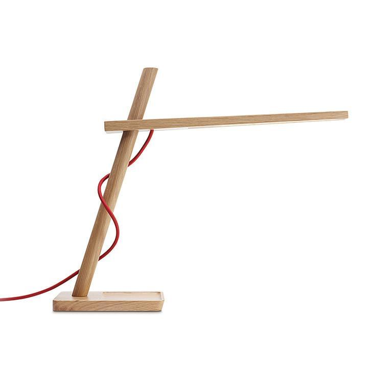 Pablo Clamp Mini - White oak - Red cord