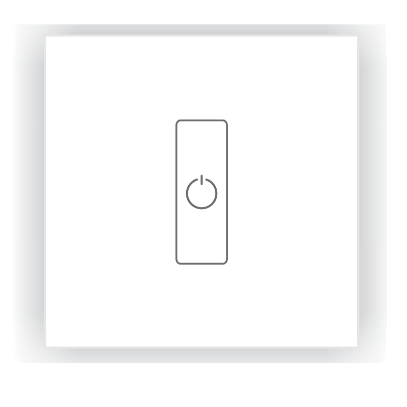 DA1 DALI LED Dimmer - Glass Panel, Single Channel, DC