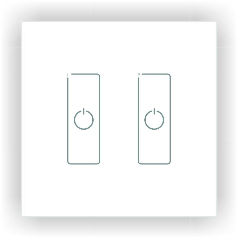 DA2 DALI LED Dimmer - Glass Panel, Dual Channel, DC from LTECH for $115.94