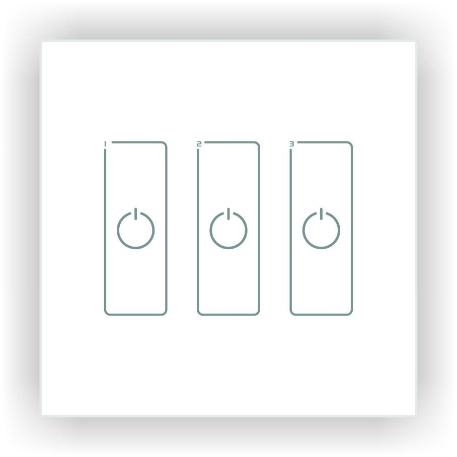 DA3 DALI LED Dimmer - Glass Panel, Triple Channel, DC from LTECH for $122.76