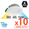 Limited Bundle! GEO LED 12W Downlight - White Trim - Colour Adjustable - Dimmable - 10x Pack! from Eurotech Lighting for $849.99