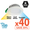 Limited Bundle! GEO LED 12W Downlight - White Trim - Colour Adjustable - Dimmable - 40x Pack! from Eurotech Lighting for $2873.99