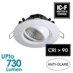 LED 9.2W Downlight - IP65 - Dimmable - Tiltable - High CRI > 90 from Generic Brand for $129.99