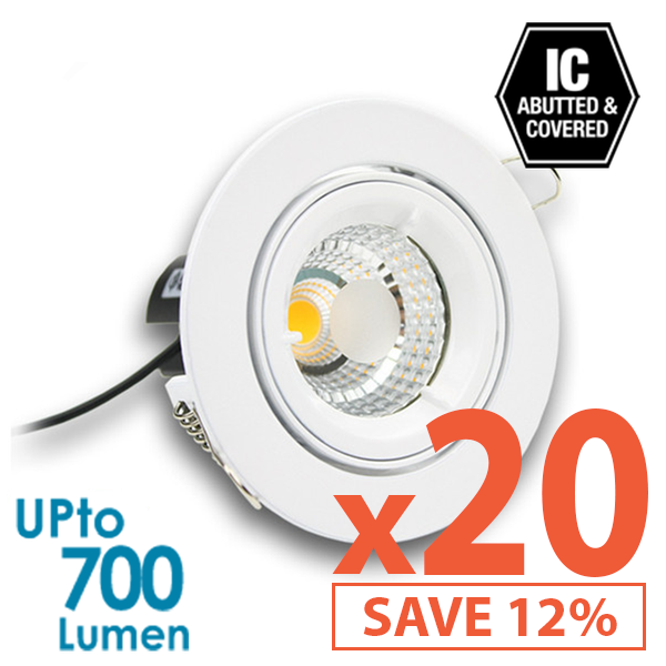 Limited Bundle! BEACON 9W LED Downlight - Dimmable - Tiltable - 20x Pack! from BEACON for $1505.99