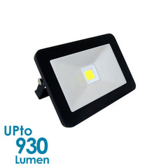 econLED 10W LED Flood Light - 230V AC - Without Sensor - Black Body from Eurotech Lighting for $31.99