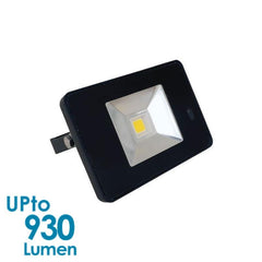 econLED 10W LED Flood Light - 230V AC - With Sensor - Black Body from Eurotech Lighting for $73.99