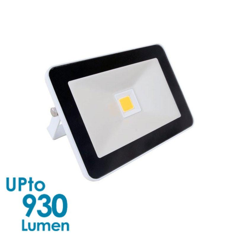 econLED 10W LED Flood Light - 230V AC - Without Sensor - White Body from Eurotech Lighting for $31.99