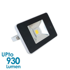 econLED 10W LED Flood Light - 230V AC - With Sensor - White Body from Eurotech Lighting for $73.99