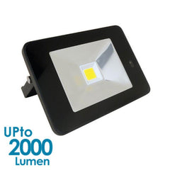 econLED 20W LED Flood Light - 230V AC - With Sensor - Black Body from Eurotech Lighting for $99.99