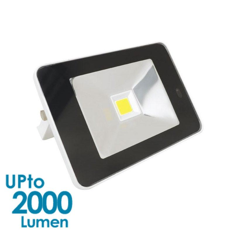 econLED 20W LED Flood Light - 230V AC - With Sensor - White Body from Eurotech Lighting for $99.99