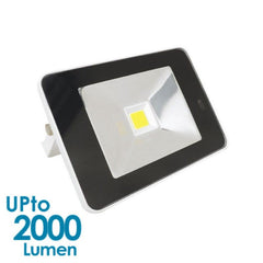 econLED 20W LED Flood Light - 230V AC - With Sensor - White Body from Eurotech Lighting for $75.99