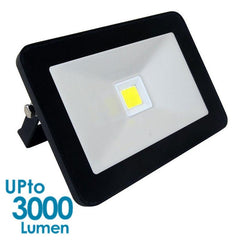 econLED 30W LED Flood Light - 230V AC - Without Sensor - Black Body from Eurotech Lighting for $75.99
