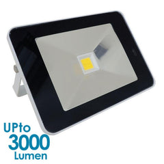 econLED 30W LED Flood Light - 230V AC - With Sensor - White Body from Eurotech Lighting for $129.99