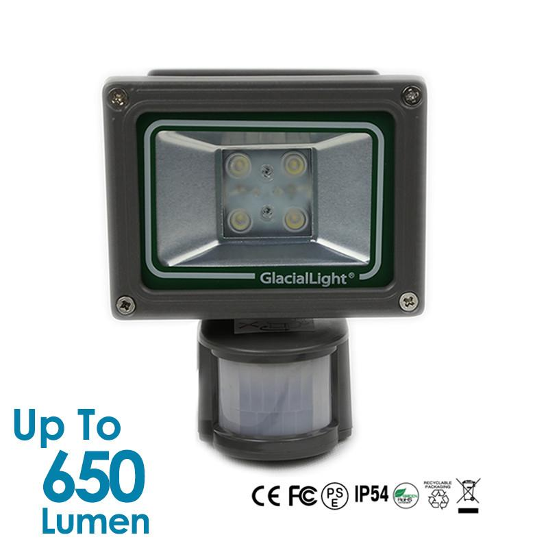 14W Glacial Light LED Flood Light - Warm White - PIR Sensor