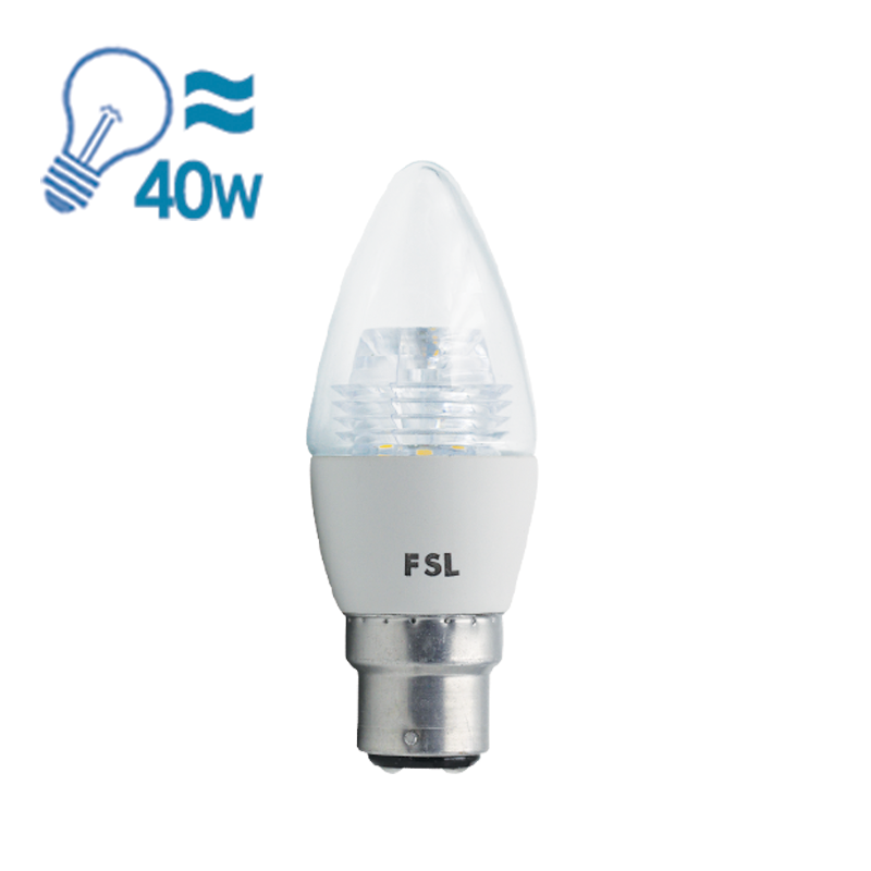 FSL LED B22 Candle Bulb, 5W from FSL for $7.99