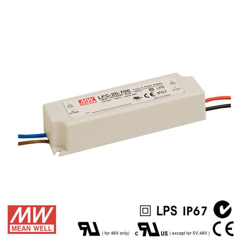Meanwell LED Power Supply  20W 700mA - DC Driver