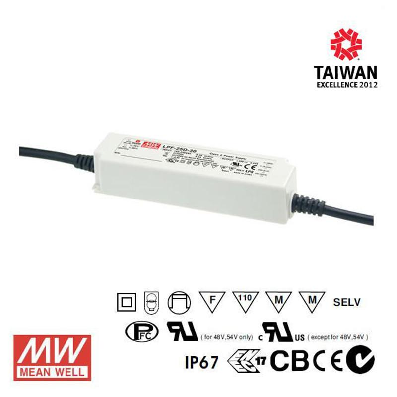 Meanwell LED Power Supply 25W 500mA - DC Driver