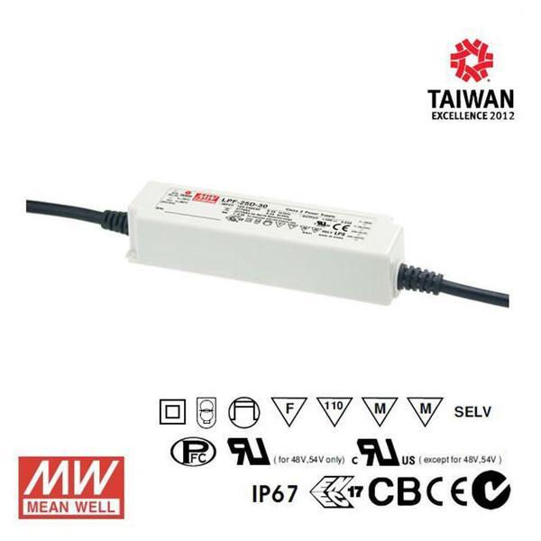 Meanwell LED Power Supply 25W 24V - DC Driver