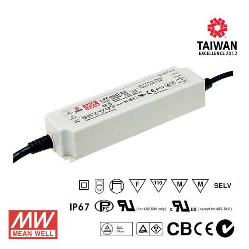 Meanwell LED Power Supply 40W 12V - DC Driver from Meanwell for $133.91