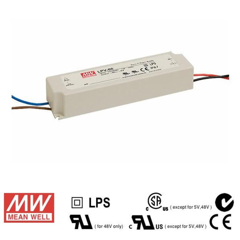 Mean Well LED Power Supply 60W 12V - DC Driver from Meanwell for $74.72
