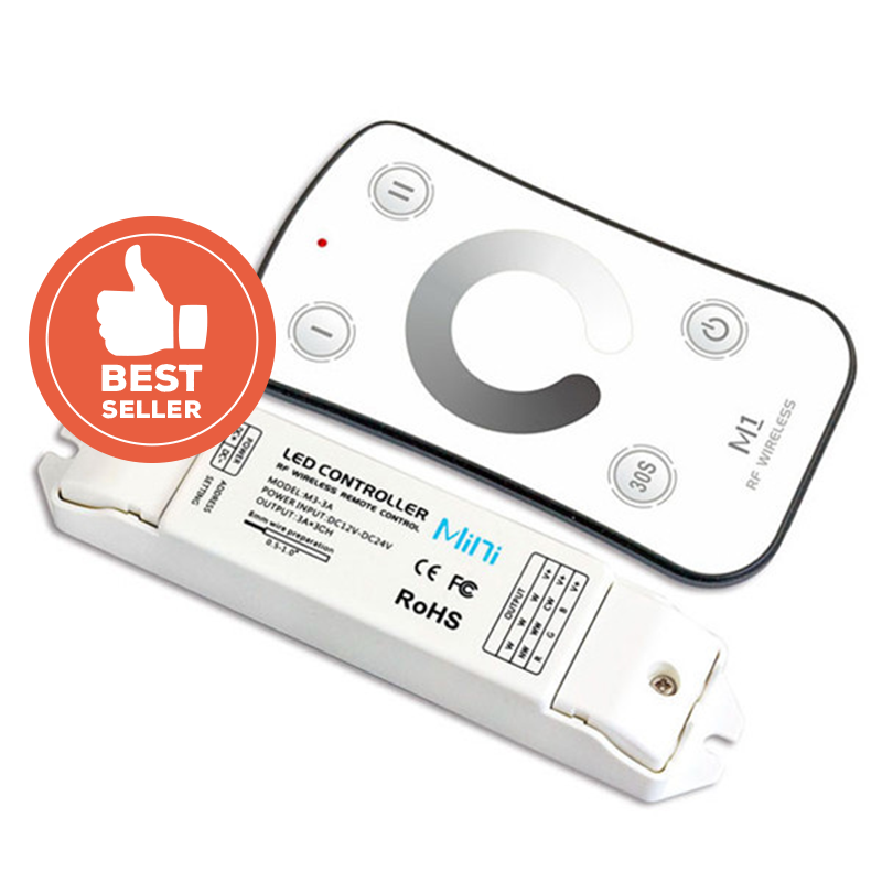 M1+M3-3A Mini Controller with RF Remote - Single Colour, DC from LTECH for $59.65