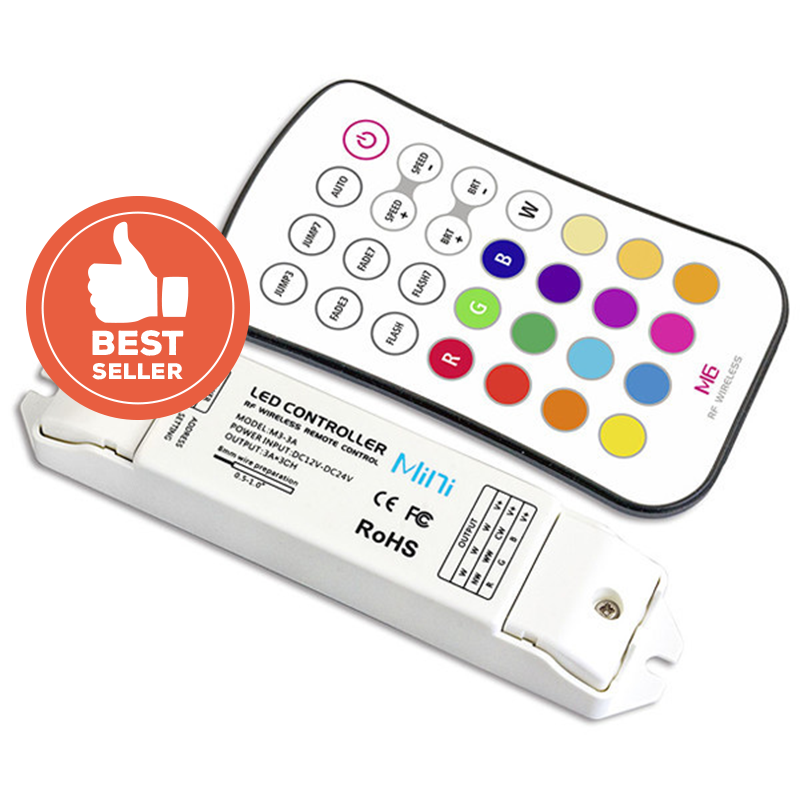 M6+M3-3A Mini Controller with RF Remote - RGB, DC from LTECH for $48.74