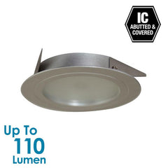 2W LED Low Profile Cabinet Light - Silver - Round - Natural White from Halcyon for $41.77