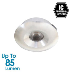 1.2W LED Mini Cabinet Light - Brushed Aluminium - Round from Halcyon for $33.99