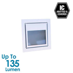 3W LED Stair Light with Frosted Glass - Silver Anodized - Square from Halcyon for $57.96