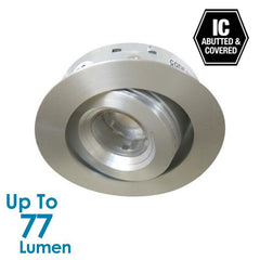 1.2W LED Tilt Cabinet Light - Brushed Aluminium - Round - Warm White from Halcyon for $46.00