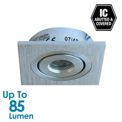 1.2W LED Cabinet Light - Brushed Aluminium - Square - Warm White from Halcyon for $64.40
