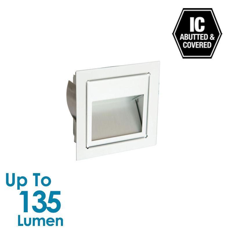 3W LED Stair Light - Silver Anodized - Square