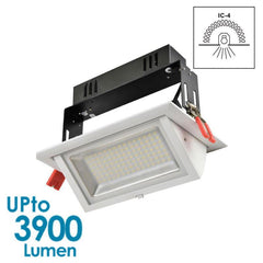 GEO LED Downlight 40w Shop Downlight - Tiltable - Dimmable from Eurotech Lighting for $168.99
