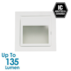 3W LED Stair Light with Frosted Glass - White - Square from Halcyon for $57.96