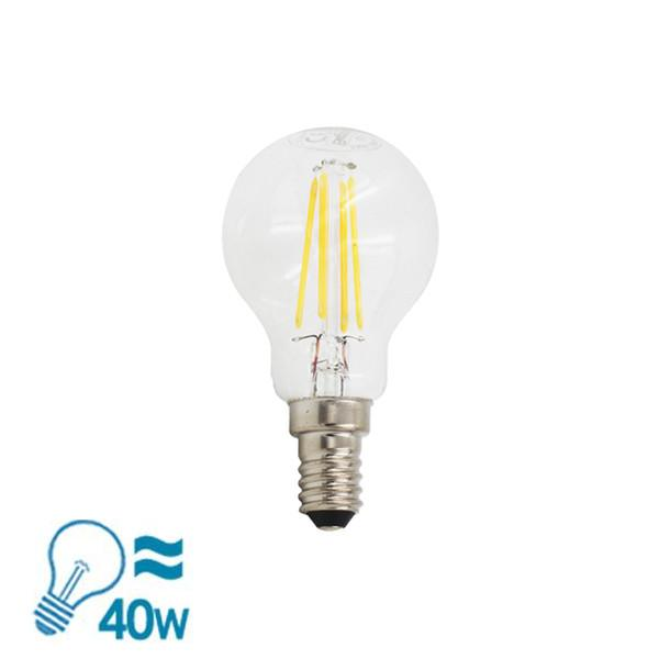 Beghelli Filament ZafiroLED G45 Sfera Series E14 Bulb, 4W