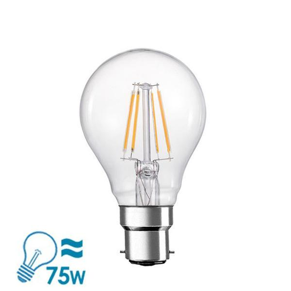 e-photon Filament LED A60 Series B22 Bulb, 6W, Dimmable