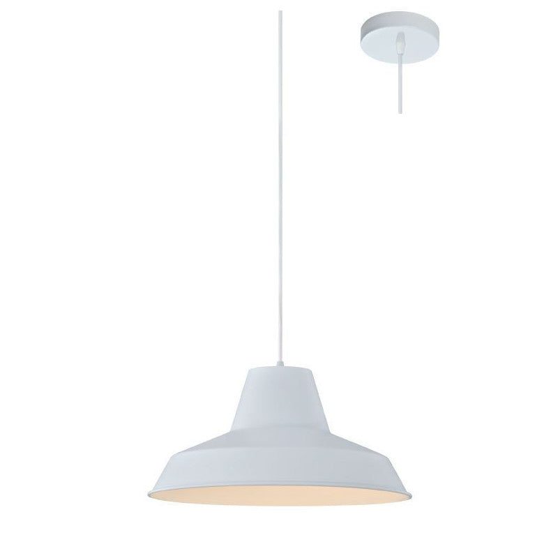 Eurotech Lighting Interior Trumpet Shade Pendant - White from Eurotech Lighting for $109.99