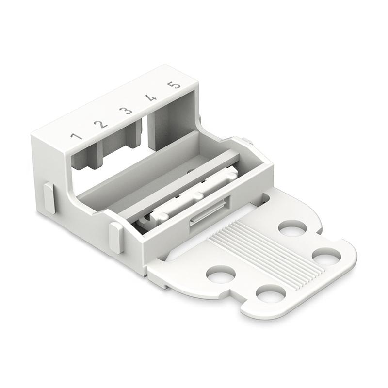 Wago 221-505 Mounting Carrier - 5-Conductor Terminal Block